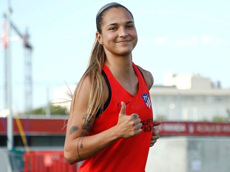 Deyna Castellanos volvió  a entrenar con el Atlético