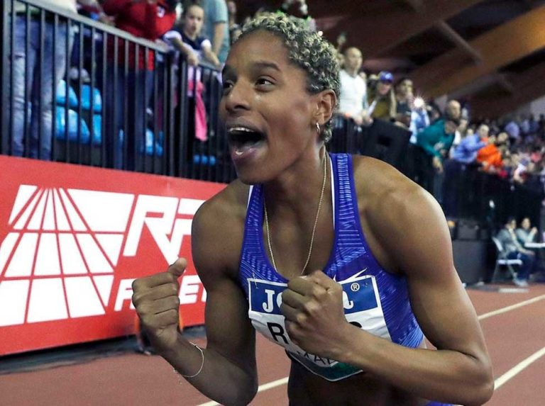 Spanish athletics immortalized Yulimar Rojas world record