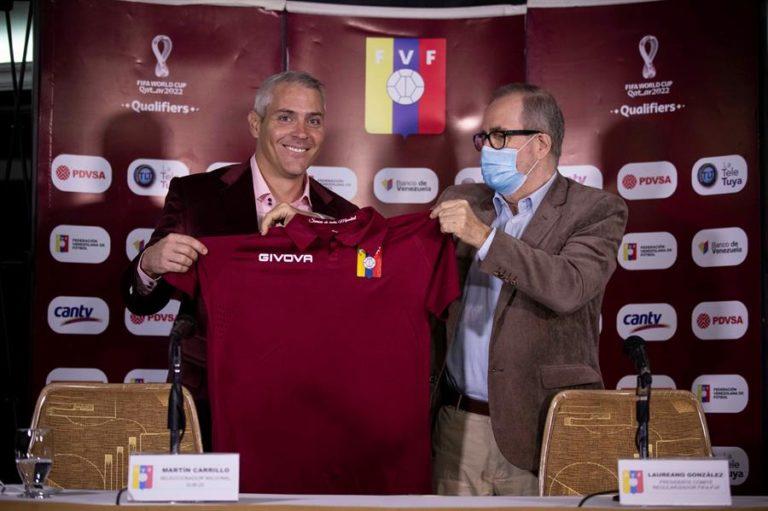 Martín Carrillo presentado como nuevo seleccionador de la vinotinto sub 20